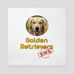 Golden Retrievers Rock Queen Duvet