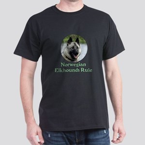 Norwegian Elkhounds Rule Dark T-Shirt