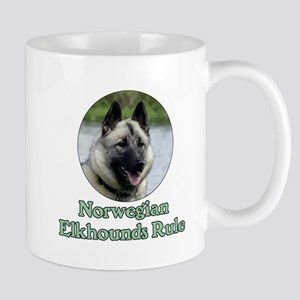 Norwegian Elkhounds Rule Mug