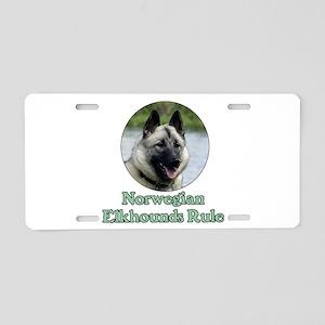 Norwegian Elkhounds Rule Aluminum License Plate