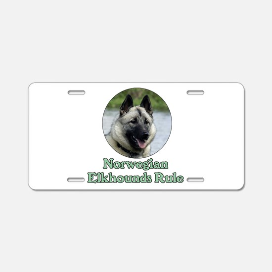 Norwegian Elkhounds Rule Aluminum License Plate