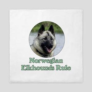 Norwegian Elkhounds Rule Queen Duvet