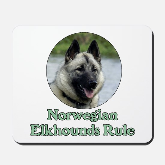 Norwegian Elkhounds Rule Mousepad