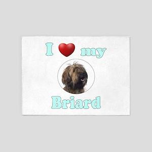 I Love My Briard 5'x7'Area Rug