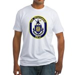 USS Wisconsin (BB 64) Fitted T-Shirt