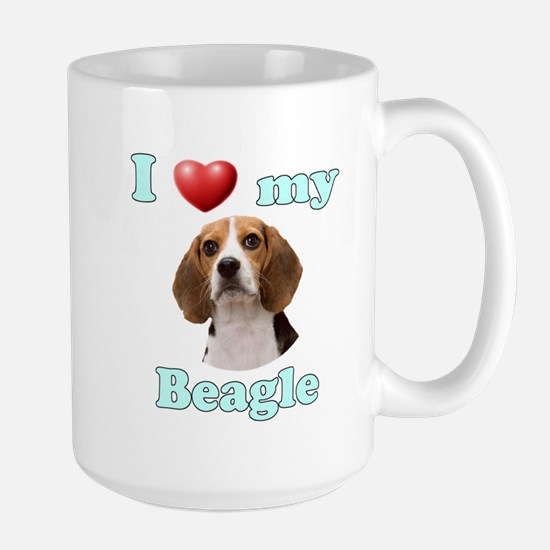 I Love My Beagle Large Mug