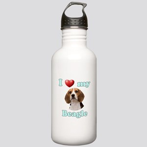 I Love My Beagle Stainless Water Bottle 1.0L