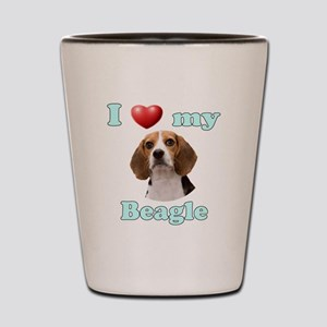 I Love My Beagle Shot Glass