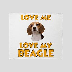 Love Me, Love My Beagle Throw Blanket