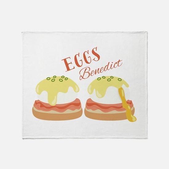Eggs Benedict Throw Blanket
