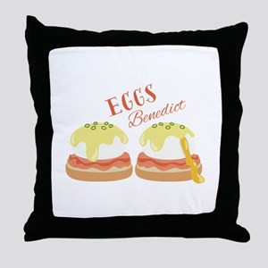 Eggs Benedict Throw Pillow