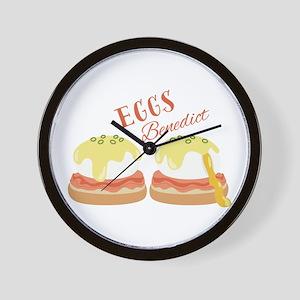 Eggs Benedict Wall Clock