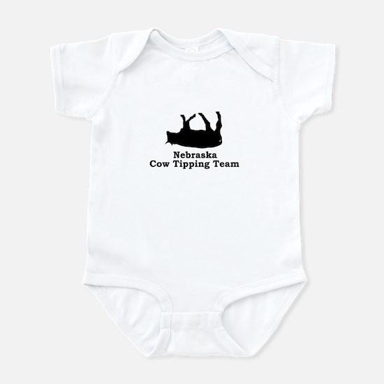 Nebraska Cow Tipping Infant Bodysuit
