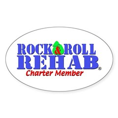 Rock & Roll Rehab Oval Decal