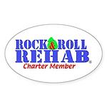 Rock & Roll Rehab Oval Sticker