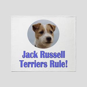 Jack Russell Terriers Rule Throw Blanket