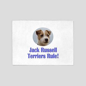 Jack Russell Terriers Rule 5'x7'Area Rug