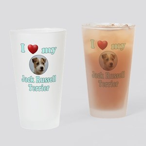 I Love My Jack Russell Terrier Drinking Glass