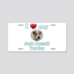 I Love My Jack Russell Terr Aluminum License Plate
