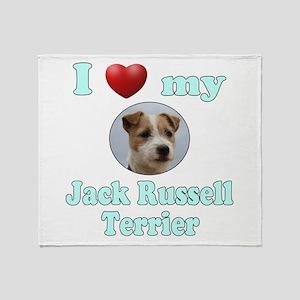 I Love My Jack Russell Terrier Throw Blanket