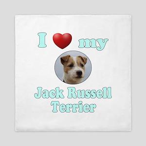 I Love My Jack Russell Terrier Queen Duvet