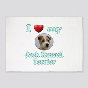 I Love My Jack Russell Terrier 5'x7'Area Rug