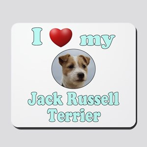 I Love My Jack Russell Terrier Mousepad