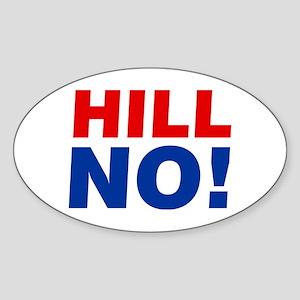 Anti Hillary Hill No! Sticker