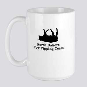 North Dakota Cow Tipping Large Mug