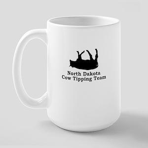North Dakota Cow Tipping Large Mug