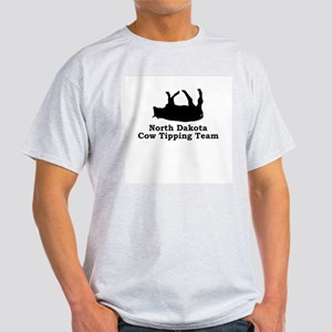 North Dakota Cow Tipping Light T-Shirt