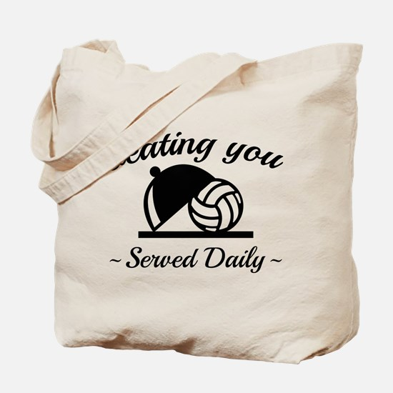 Beating You In Volleyball Tote Bag