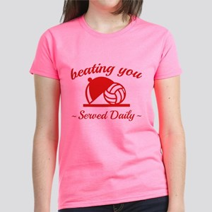 Beating You In Volleyball Women's Dark T-Shirt