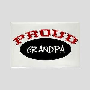 Proud Grandpa (red & black) Rectangle Magnet