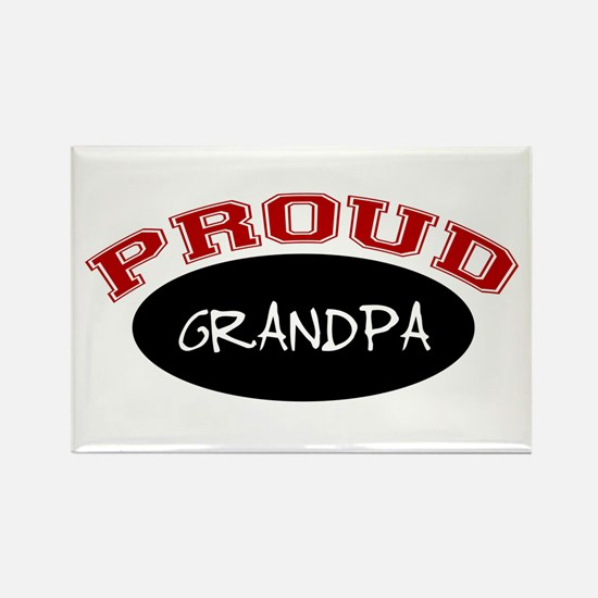 Proud Grandpa (red & black) Rectangle Magnet (10 p