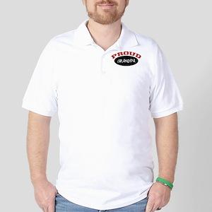 Proud Grandpa (red & black) Golf Shirt