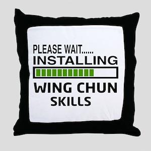 Please wait, Installing Wing Chun ski Throw Pillow