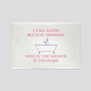 I Take Baths Rectangle Magnet
