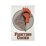 Fighting Cocks Rectangle Magnet