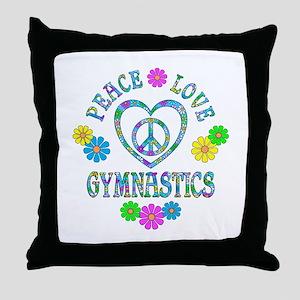 Peace Love Gymnastics Throw Pillow