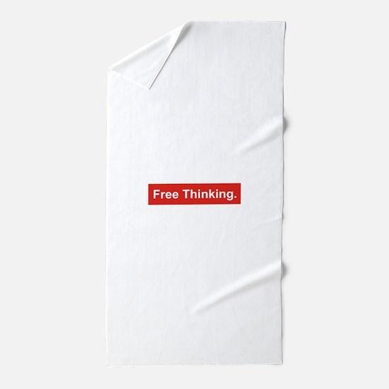 Free Thinking Beach Towel