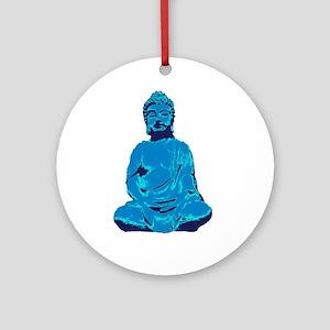 Buddha blue Round Ornament