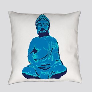 Buddha blue Everyday Pillow