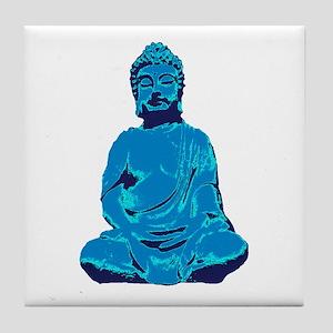 Buddha blue Tile Coaster