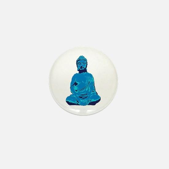 Buddha blue Mini Button