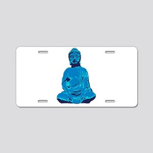 Buddha blue Aluminum License Plate