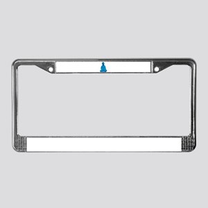 Buddha blue License Plate Frame