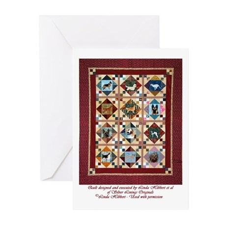 Love that Pound Puppy Quilt Greeting Cards (Pk of