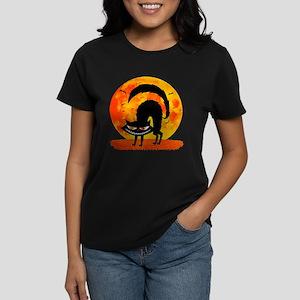 Black Cat Women's Dark T-Shirt