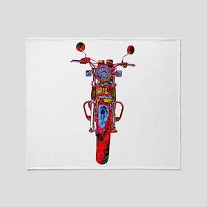 Motorrad frontal Throw Blanket